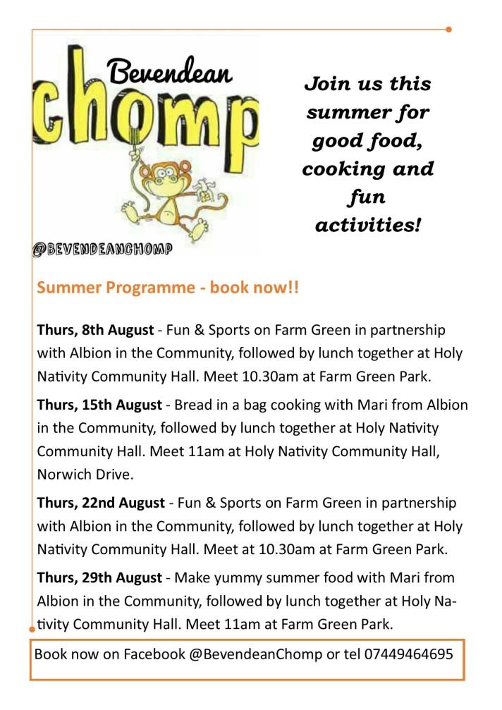Chomp summer programme 2019