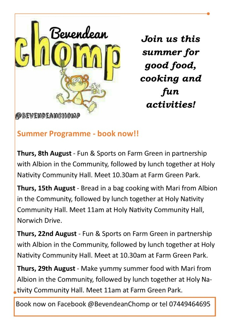 Chomp summer programme 2019